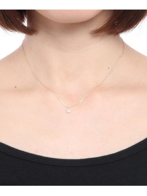バースデーストーン(ピンクトルマリン10月)×ホワイトトパーズ ネックレス