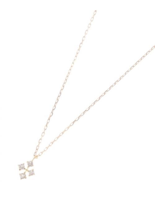 K18ダイヤモンド ひし形ネックレス小