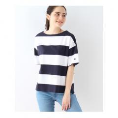 【WEB限定販売】Champion ワイドボーダーTシャツ