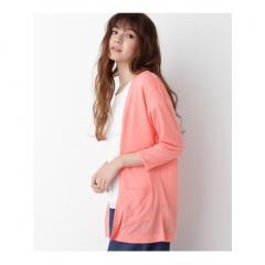 Tシャツ&布帛7分袖カーディガンセット