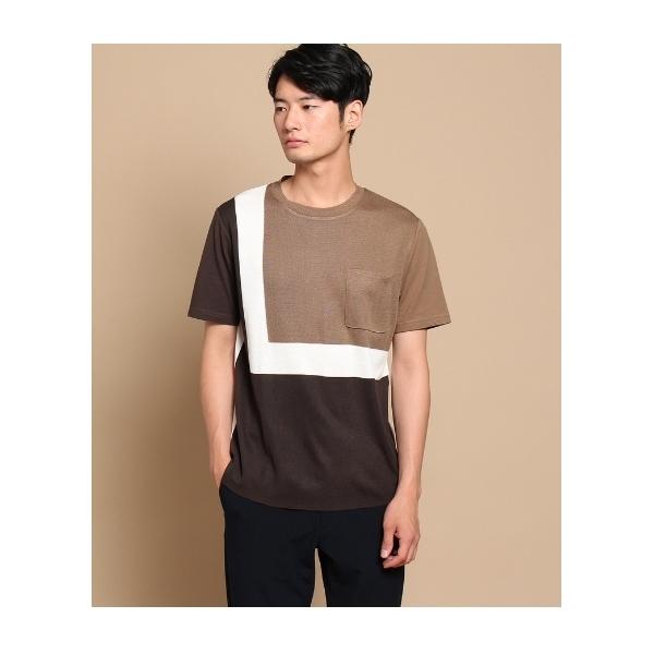前身ニットデザインTシャツ
