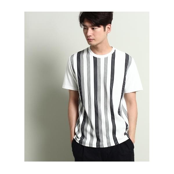 グラデーションストライプTシャツ
