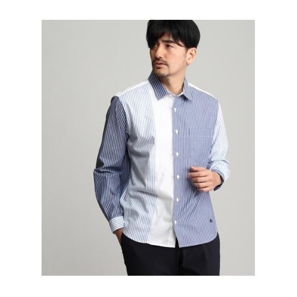 ブロッキングボーラーポイントシャツ