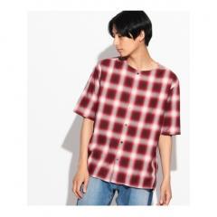 ツイルオンブレーチェックシャツ