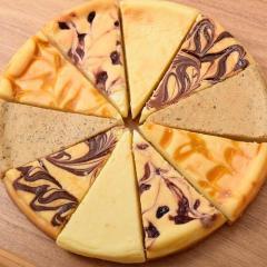 送料無料【5/27~6/1出荷】スイーツ 濃厚クラシックチーズケーキ 5種計10カット  (プレーン ミルクティー チョコマーブル マンゴー ミックスベリー )※冷凍