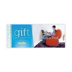 【5営業日以内に出荷予定】Yogibo Midi or Pod gift voucher - ギフト券 / ヨギボー / ビーズクッション / プレゼント / 贈り物【分納の場合あり】