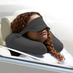 【5営業日以内に出荷予定】Yogibo Neck Pillow X - ダークグレー / ヨギボー ネックピロー エックス / トラベルグッズ / アイマスク【分納の場合あり】