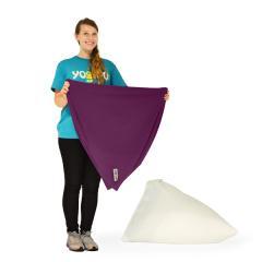 【1~3営業日で出荷】Yogibo Pyramid Cover - ディープパープル / ヨギボー ピラミッド 専用カバー / ソファーカバー / クッションカバー【分納の場合あり】