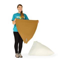 【1~3営業日で出荷】Yogibo Pyramid Cover- キャメル / ヨギボー ピラミッド 専用カバー / ソファーカバー / クッションカバー