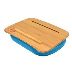 Traybo2.0 - アクアブルー ヨギボー トレイボー ノートパソコン コンパクト テーブル 竹製【1~3営業日で出荷予定】【分納の場合あり】