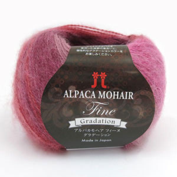 秋冬毛糸 『ALPACA MOHAIR Fine Gradation(アルパカモヘアフィーヌグラデーション) 104番色』 ハマナカ