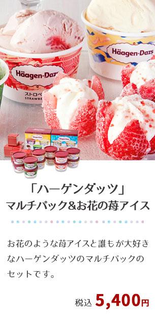 「ハーゲンダッツ」マルチパック&お花の苺アイス