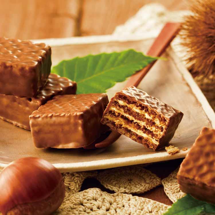 ロイズ チョコレートウエハース[モンブランクリーム12個入]