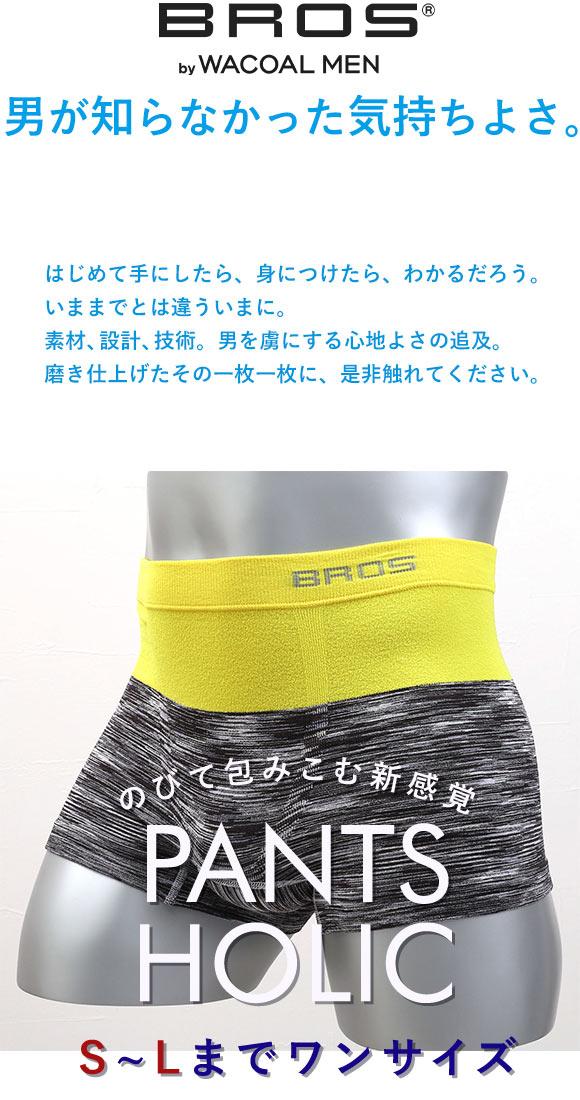 (ワコール)Wacoal (ブロス)BROS PANTS HOLIC ボクサーパンツ 前とじ 編立成形 立体設計 S-LL メンズ