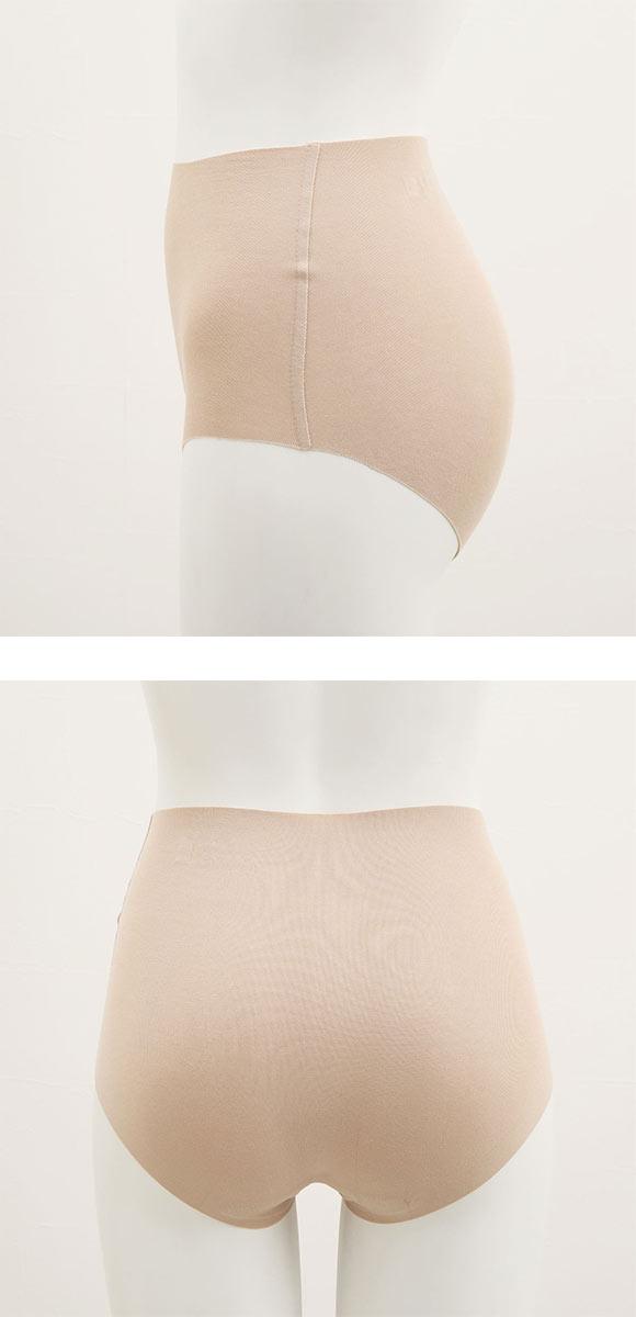 (グンゼ)GUNZE (キレイラボ)KIREILABO 完全 無縫製 ひびきにくい 綿混 ショーツ はきこみ丈深め 4L 5L 単品