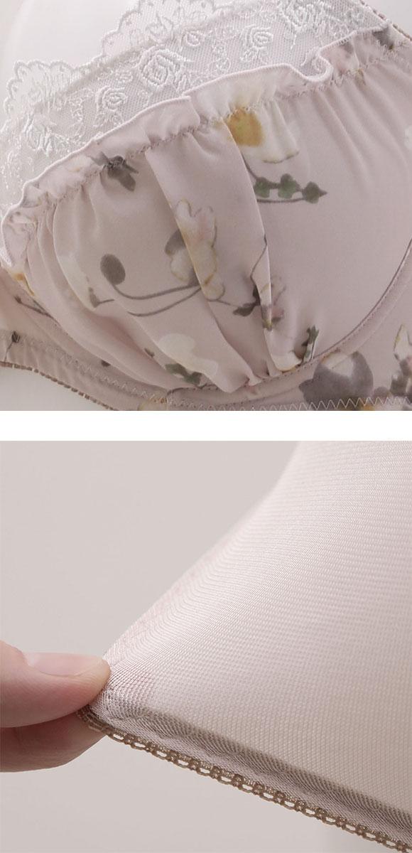 (パンキュート)PANCUTE 大きいサイズ フラワープリント ブラジャー ショーツ セット グラマー GH