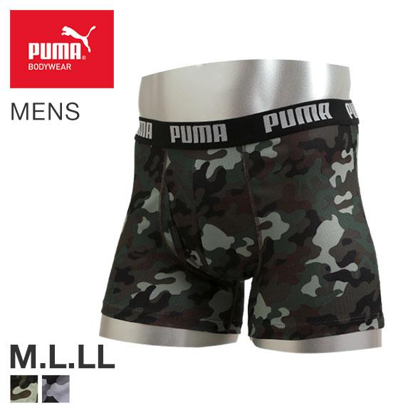 (プーマ)PUMA ボクサーパンツ メンズ 前あき カモフラージュ柄 ハニカム メッシュ