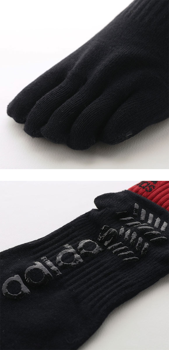 (アディダス)adidas ショート丈 ソックス スポーツ 五本指 段階式 着圧