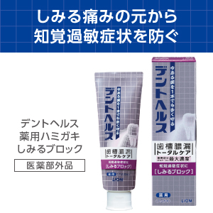 デントヘルス 薬用ハミガキ しみるブロック 85g ライオン 歯磨き粉