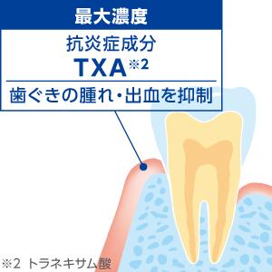 抗炎症成分が、歯ぐきの腫れ・出血を抑制