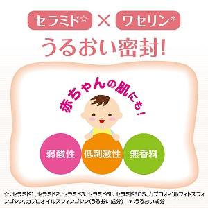 乾燥肌・敏感肌用 天然型セラミド☆とワセリン*配合の乳液でうるおい密封の乳液