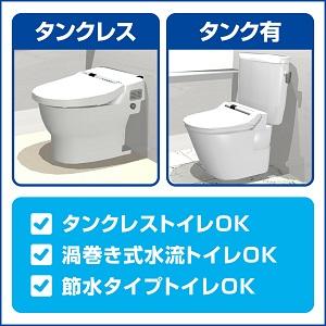 どんなタイプの洋式トイレにも使える!