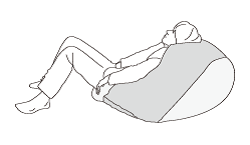 「ヨコ置き」で座る