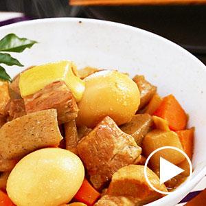 炊飯器でスイッチポン!野菜も一緒に簡単煮豚