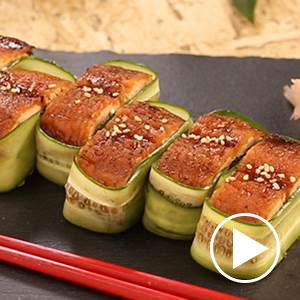 さんま蒲焼で押し寿司