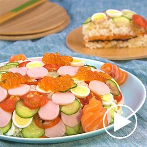 可愛い水玉ちらし寿司