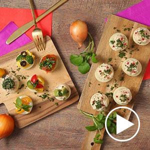 スマイルボールのカナッペ&カップサラダ