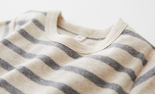 こども 起毛フライス編み長袖Tシャツ
