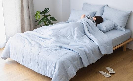 接触冷感リヨセル麻の寝具