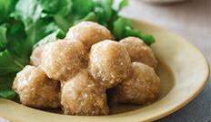 豆腐ミートボールの味噌甘酢あんかけ